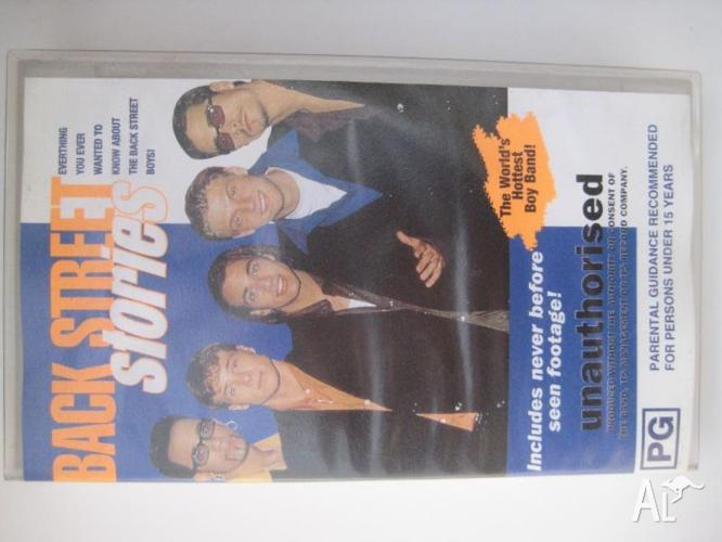 BACK STREET BOYS - BACK STREET STORIES PAL VHS VIDEO