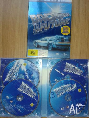 Back to the Future trilogy 3x DVD movies