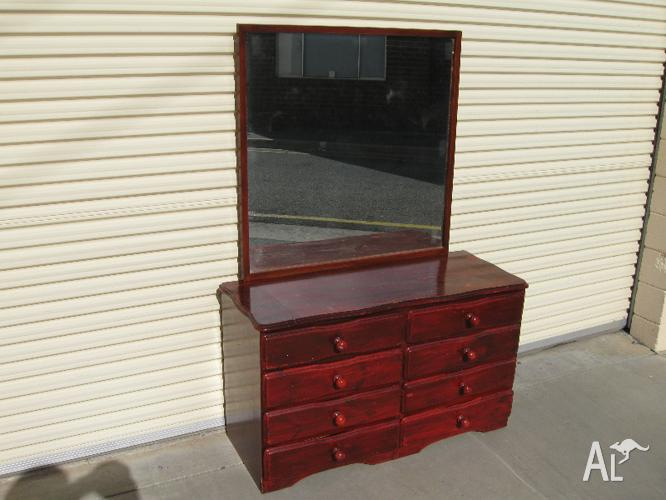 Basic Pine Dresser With Mirror For Sale In Adelaide South Australia Classified