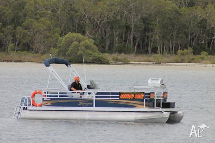 BBQ Pontoon Boat ready for hire business
