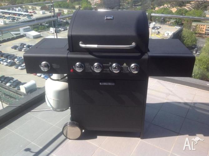 BBQ with gas cylinder