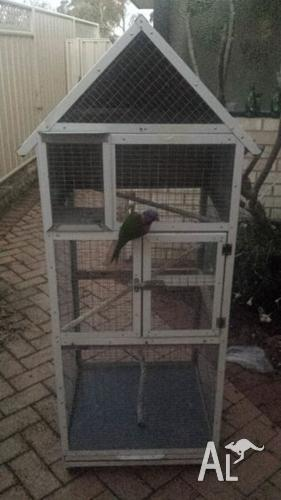 Beautiful Bird Patio Cage/Aviary on Wheels