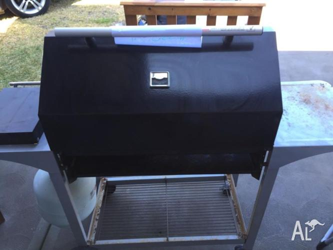Beckley four burner BBQ, with additional gas cook top