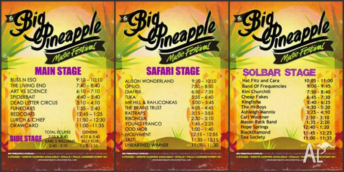 Big Pineapple Music Festival on this Saturday 17th May