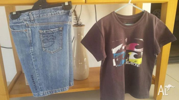 BILlABONG Boys size 7 shorts and size 8 shirt