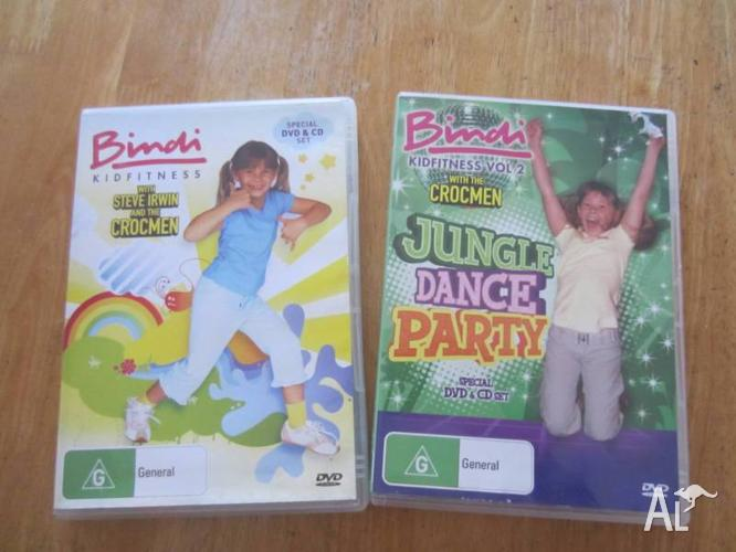 Bindi DVD's Jungle Dance Party and Kidfitness with
