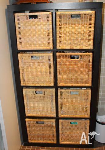 Black 6 shelf unit