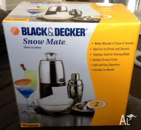 Black And Decker Snow Mate Electric Ice Shaver New For