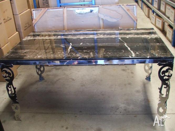 Black Granite Table with Spare Top still in Crate
