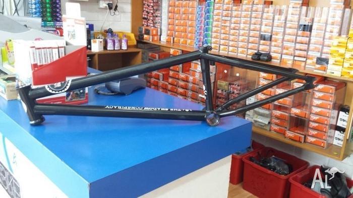 BMX frame, cranks, sprocket