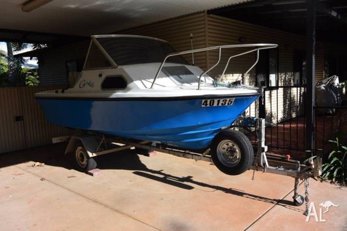 boat 4.6m with 70 hp yamaha