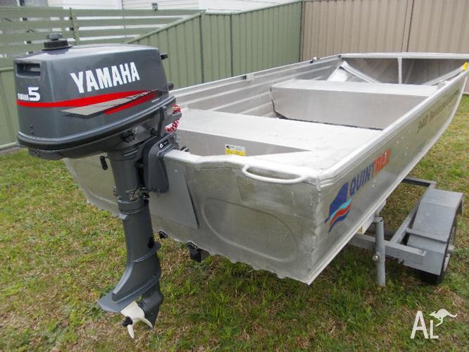 Boat quintrex traveller rooftopper yamaha 5hp 4 stroke for Yamaha boat motor parts for sale