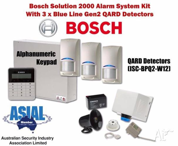 Bosch Sol 2000 Alarm Kit w/ 3 Blue Line Gen2 QUAD w/