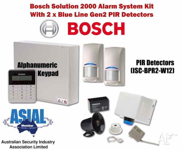 Bosch Solution 2000 Alarm Kit w/ 2 Blue Line Gen2 PIR