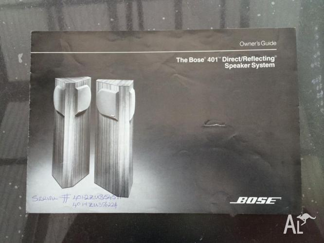 bose 401 direct reflecting floor standing speakers for sale in rh golden grove australialisted com bose 401 service manual Bose 301