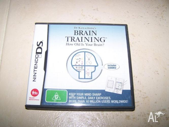 Brain training nintendo DS game
