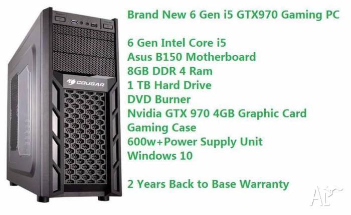 Brand new 6 Gen i5 DDR4 GTX 970 Gaming Computer Windows