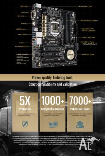 Brand New Asus Z97M-PLus motherboard