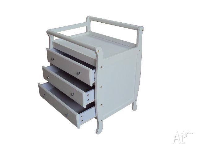 Brand New Baby Change Table with Drawers Dark Mahagony