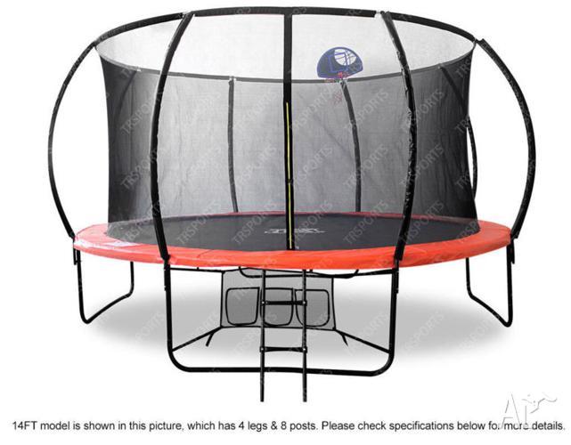 Brand New Round Outdoor Trampoline Safety Net Ladder