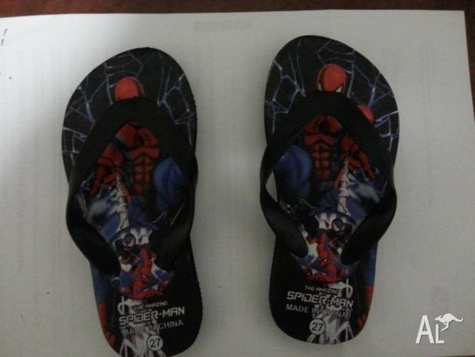 BRAND NEW SPIDERMAN THONGS - NEVER USED