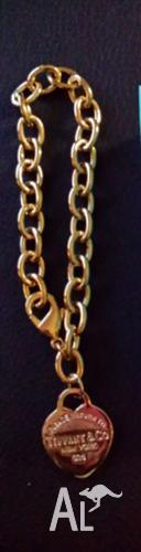 Brand new Tiffany & co gold tone womens bracelet
