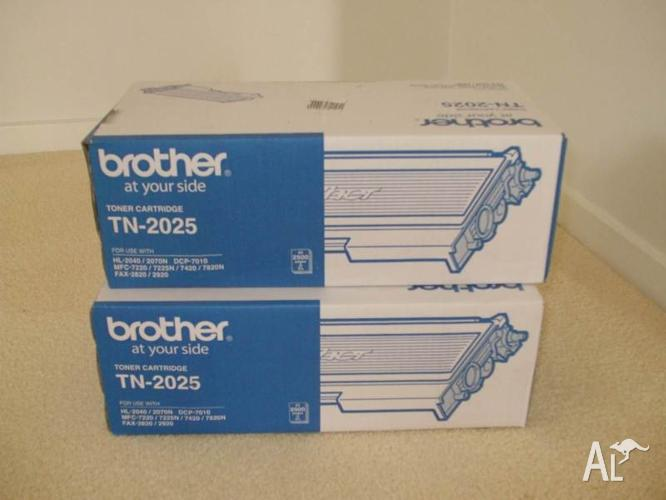 Brother TN-2025 Black Toner Cartridges x 2