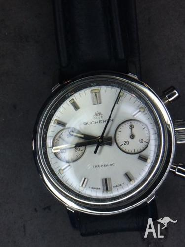 Bucherer Chronograph early 80's Ltd Edn with Blue