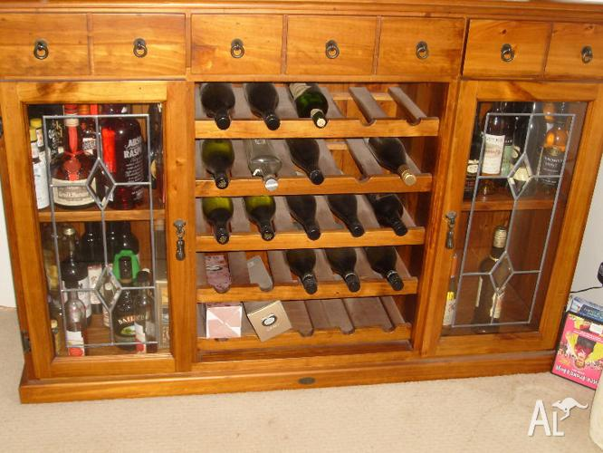 Buffet and wine rack