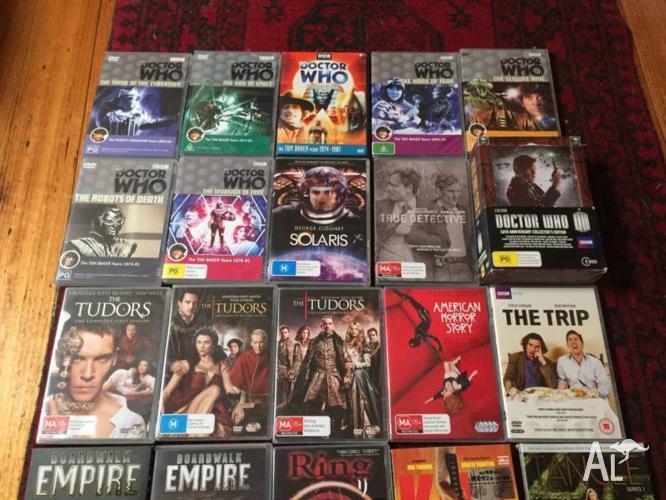 Bulk DVDs inc. many brand new Dr Who, Box sets,