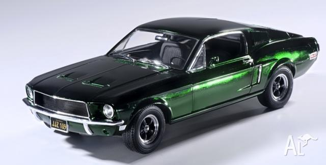 bullitt 1968 ford mustang gt 118 scale chrome for sale in coburg north victoria classified. Black Bedroom Furniture Sets. Home Design Ideas