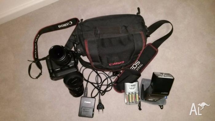 Canon 500D + 18-55mm Lens + 50mm Lens + Battery Grip +