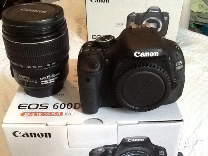 Canon 600d like new, EFS 15-85mm lens