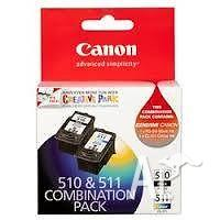 Canon Genuine PG-510 & CL-511 Twin Combination Pack