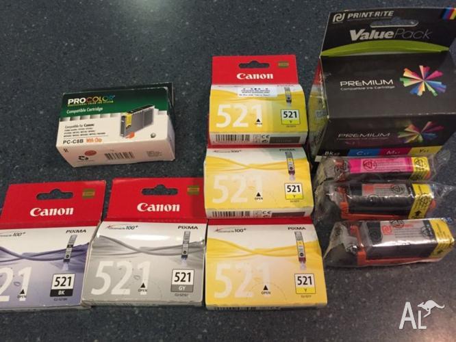 Canon ink cartridges - yellow, black,
