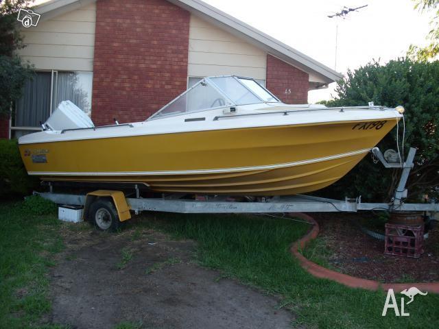 Caribbean safari 16 foot boat 120 hp motor excelle for for 16 foot aluminum boat motor size