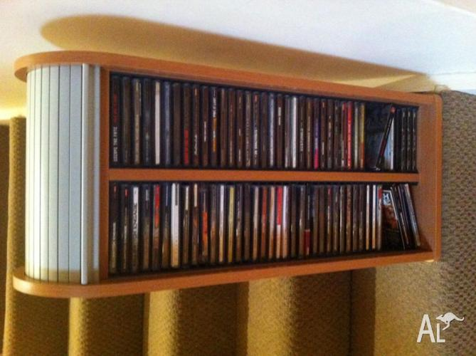 CDs (76) with cd holder