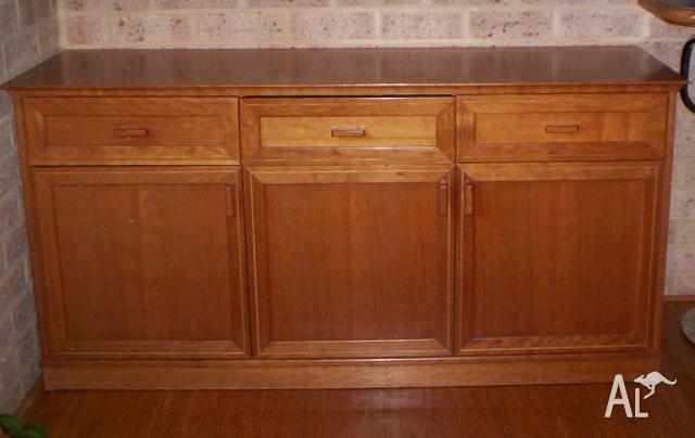 Cherry Veneered Wooden Sideboard