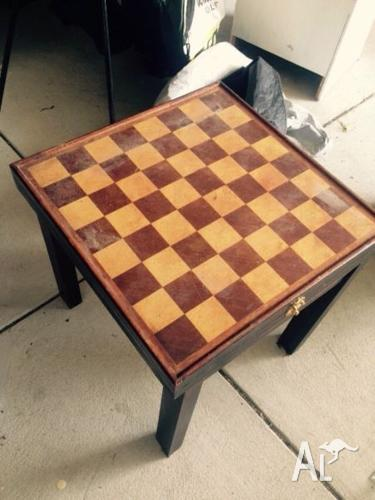 Chess and checkers table
