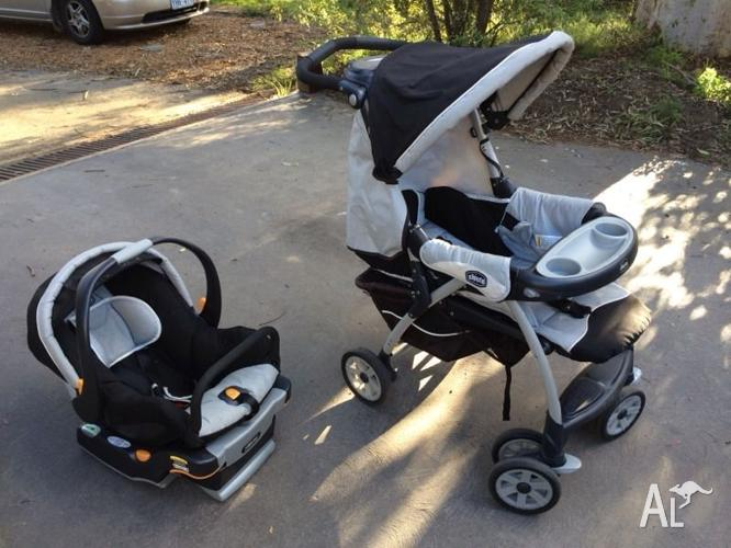 Chicco Cortina Travel System Pram And Baby Capsule For Sale In
