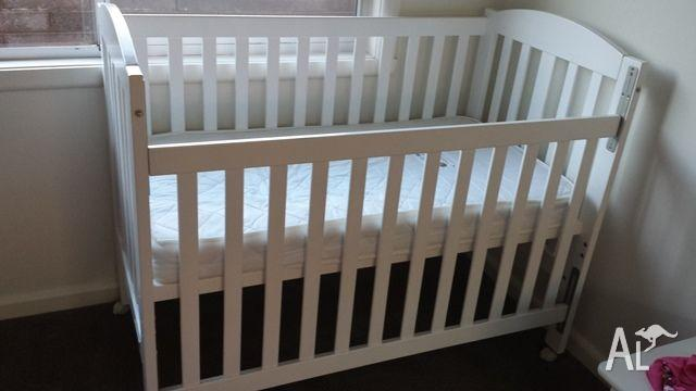 Childcare Cot with Mattress - Excellent Contition