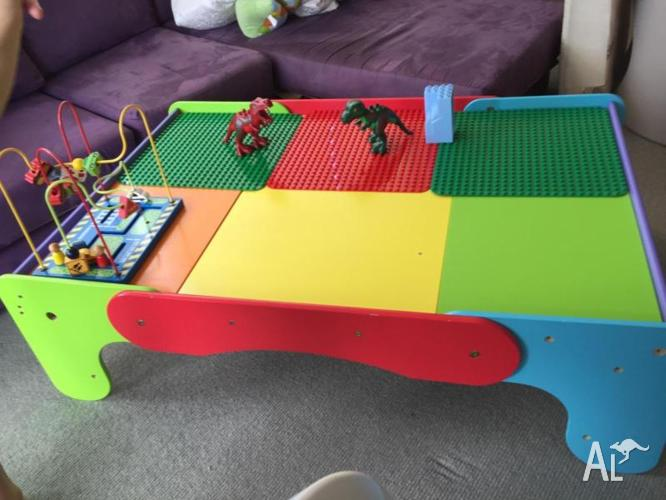 Children Activity table for Lego, Train set, Puzzles