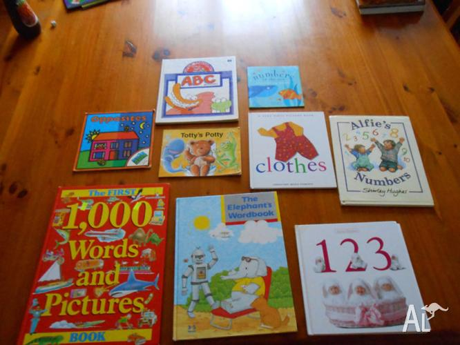 Children/toddler Learning Books- counting, ABC, Word Books