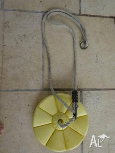 CHILDRENS DISC SWING YELLOW GOOD CONDITION WITH