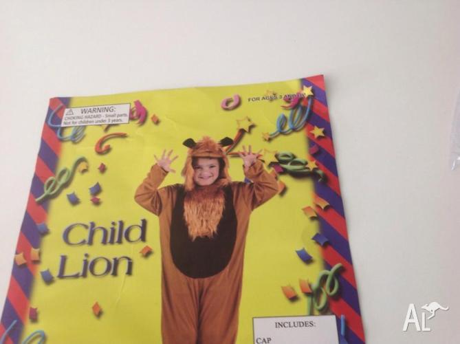 Childrens lion fancy dress costume suez large