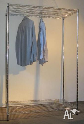 Chrome wire wardrobe with adjustable height strong