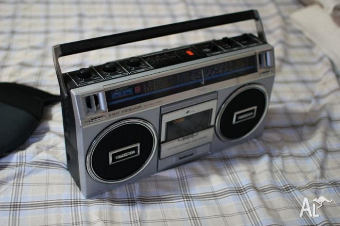 Classic retro cassete deck radio