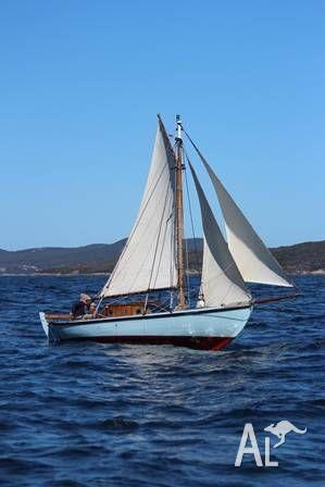 Classic Timber Double-Ended Gaff Rigged Cutter