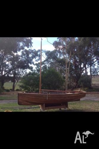 Clinker built sailing boat (The Trump)