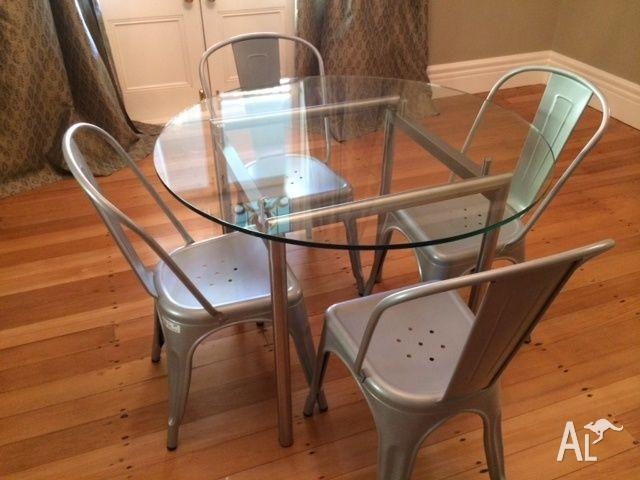 Coco Republic Dining Glass Table Steel Chairs For Sale In East Killara New South Wales Classified Australialisted Com